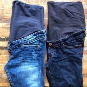 Bundle H&M Mama Maternity Skinny Jeans - Sz 6